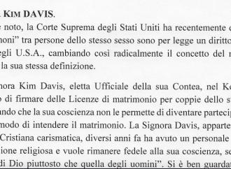 Il caso Kim Davis e la smentita che conferma