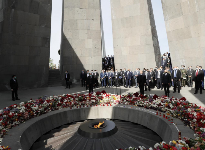 Metz Yegern, la celebrazione a Erevan, memoriale del genocidio