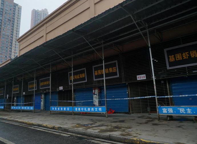 """Il mercato """"bagnato"""" di Wuhan"""