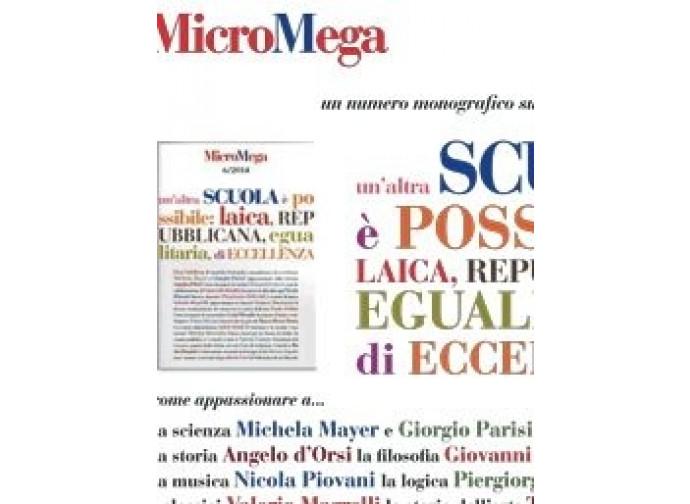 Il nuovo numero della rivista MicroMega
