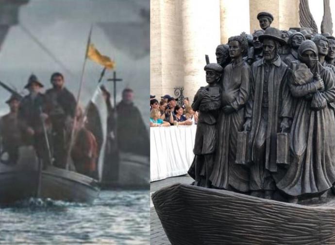 La statua di San Pietro e l'arrivo dei conquistadores in Apocalypto