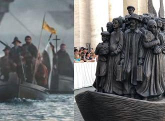 """Papà Bergoglio e gli altri: quanti migranti """"sovranisti"""" usati in quella statua"""