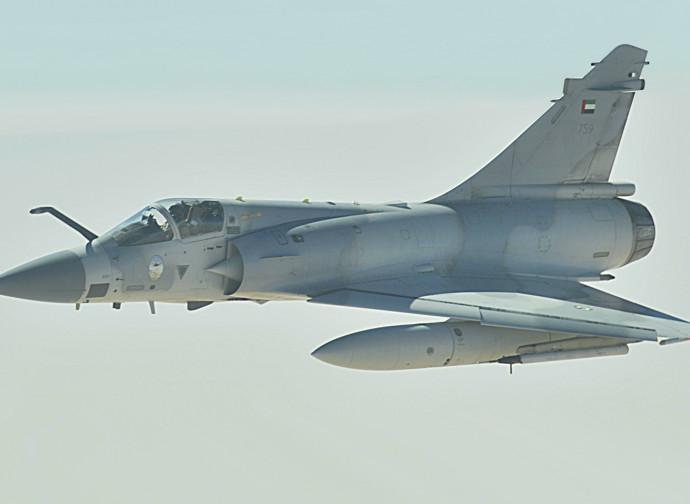 Un Mirage 2000 degli Emirati Arabi Uniti: possibile arma del raid?