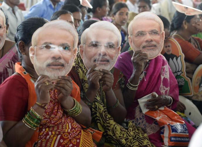 India, sostenitori di Modi (Bjp)