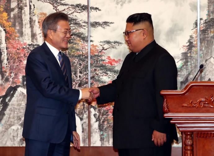 Lo storico incontro di Moon e Kim
