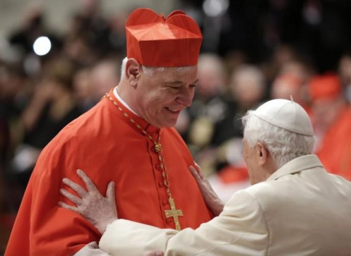 Il cardinale Müller con papa Benedetto XVI
