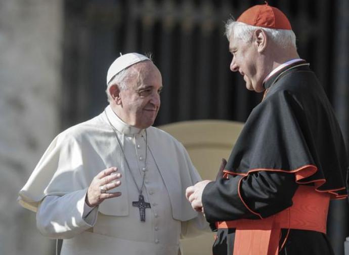 Il cardinale Müller con papa Francesco