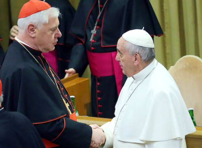 Muller con Papa Francesco