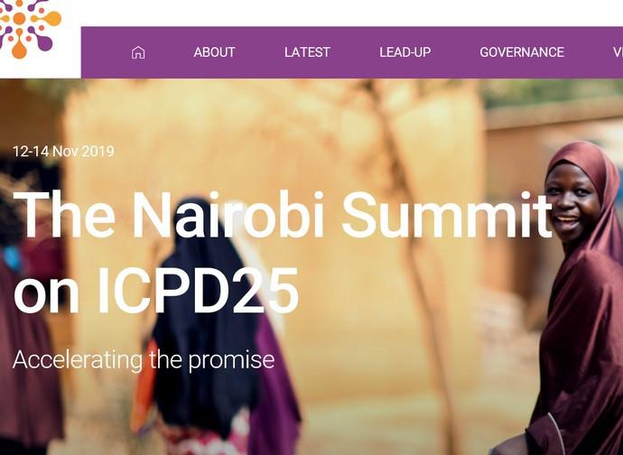 Il sito in preparazione del summit di Nairobi