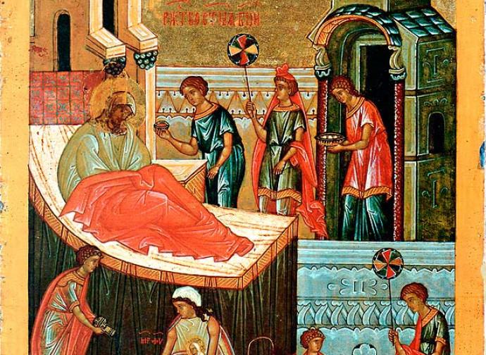 Natività di Maria, Icona di Novgorod