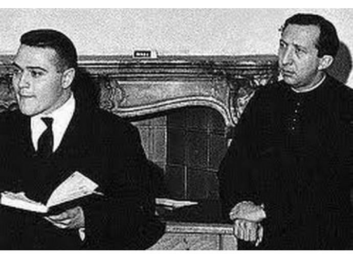 Luigi Negri con don Giussani ai tempi di Gioventù Studentesca