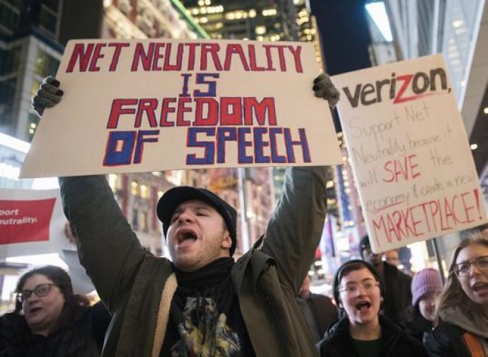 Manifestazione a favore della Net Neutrality