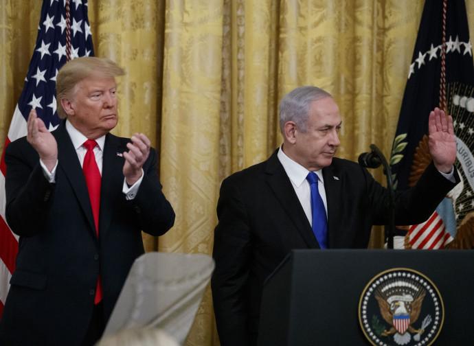 Netanyahu e Trump illustrano il piano di pace