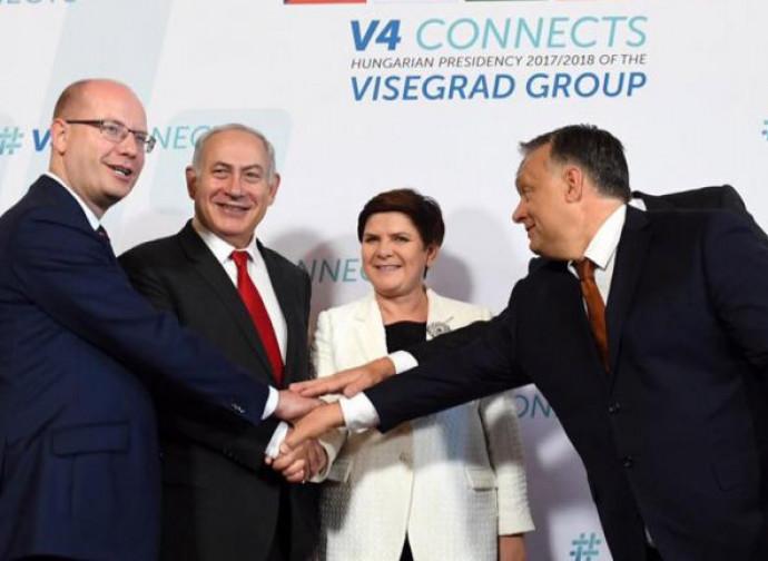 Netanyahu incontra i leader del gruppo Visegrad a Budapest (luglio 2017)