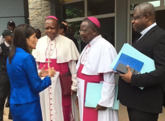 Nikki Haley media con i vescovi del Congo