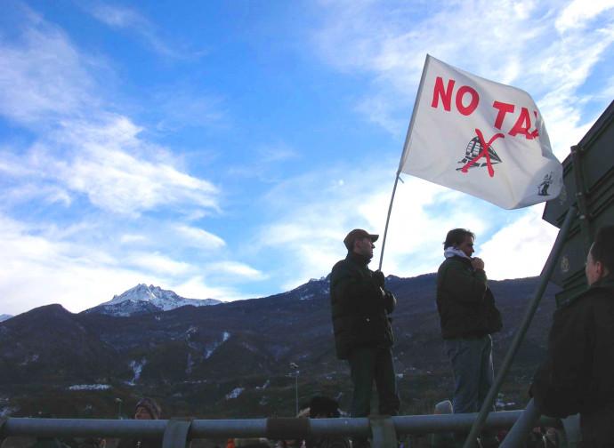 Manifestazione No Tav nella Val di Susa