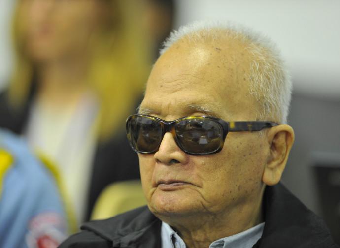 Nuon Chea durante il processo