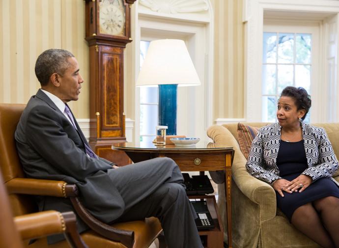 Barack Obama e Loretta Lynch