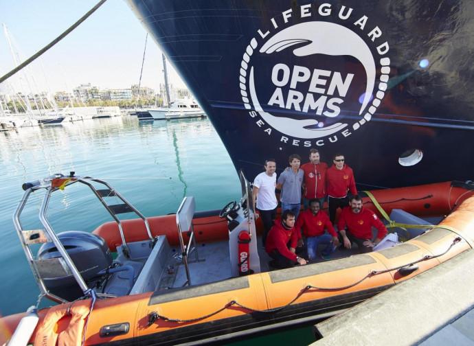 L'equipaggio della nave della Ong spagnola Open Arms