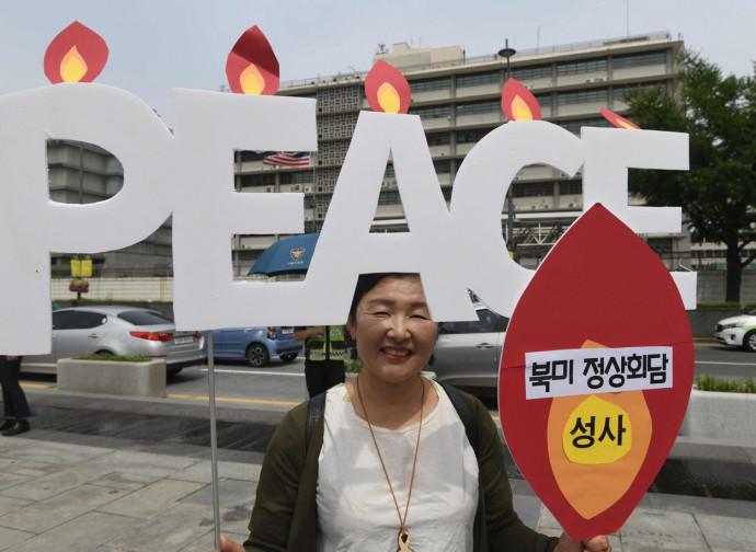 Manifestazione pacifista in Corea del Sud