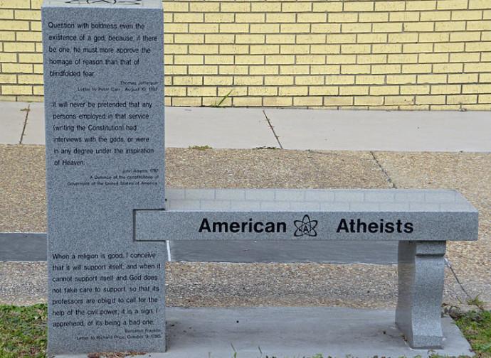 Usa, panchina sponsorizzata dagli Atei Americani