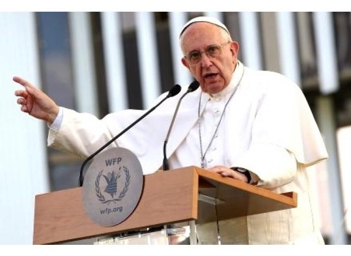 Papa Francesco all'assemblea del  Programma alimentare mondiale