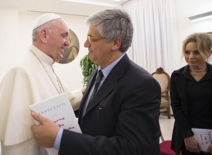 Papa Francesco con Andrea Tornielli
