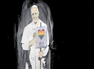 Pompei, murale con Bergoglio pro gay
