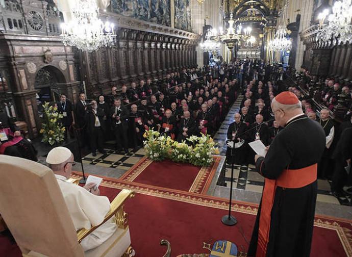 Francesco incontra i vescovi polacchi