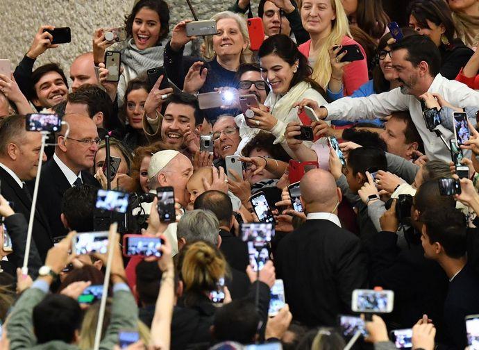 Papa Francesco all'udienza generale al ritorno dagli Emirati