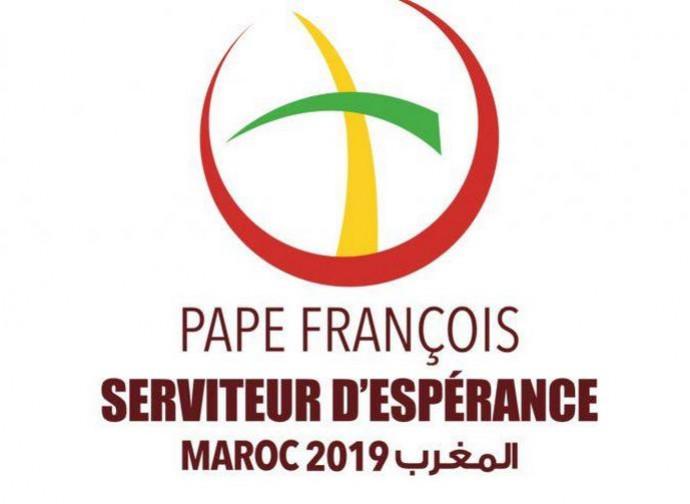 Il logo della visita di papa Francesco in Marocco
