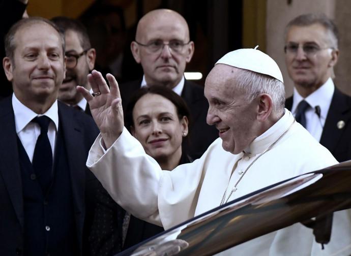 Papa Francesco alla sede del Messaggero