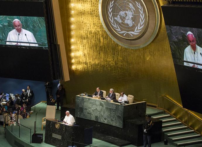 Il Papa all'Onu il 25 settembre 2015