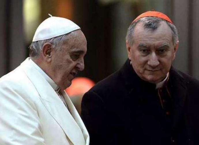 Il cardinale Parolin con il Papa