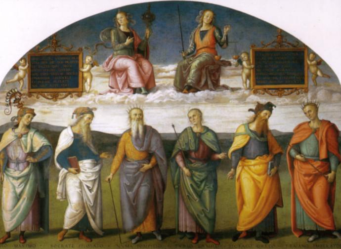 Perugino, Prudenza e Giustizia