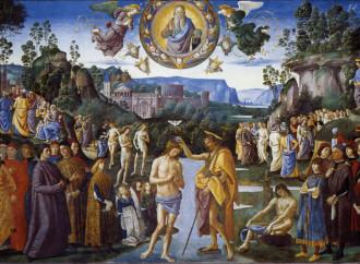 Perugino: il Battesimo di Cristo vocazione per l'uomo