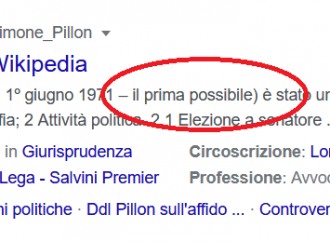 Per Wikipedia Pillon deve morire