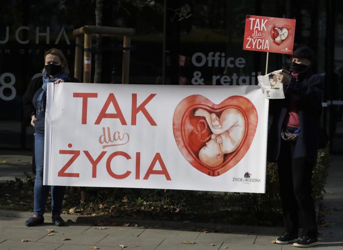 Attivisti pro-life a Varsavia