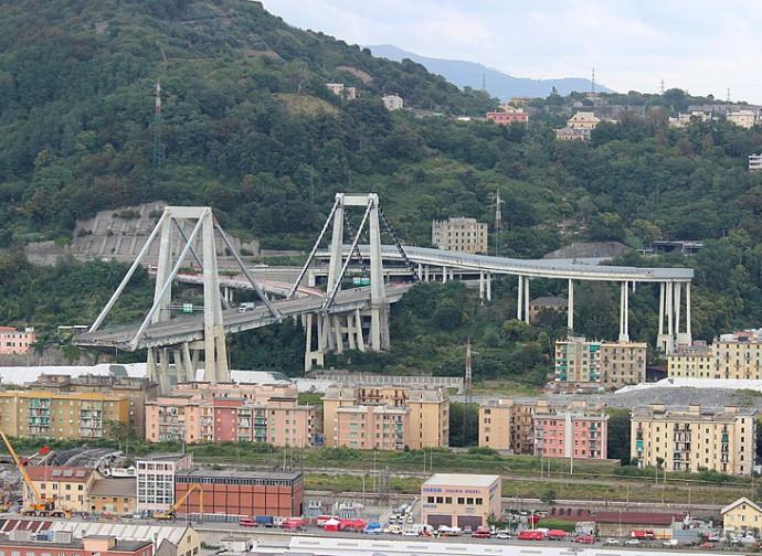 L'ex Ponte Morandi, dopo il crollo