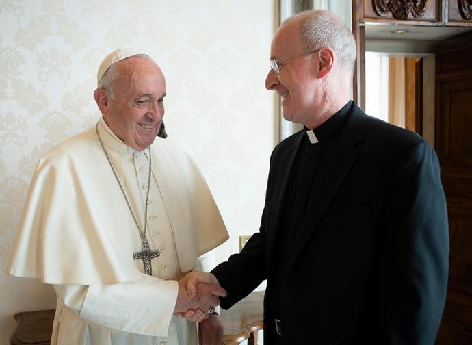Papa Francesco e padre James Martin