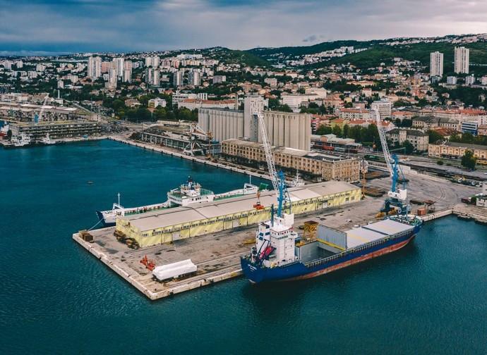 Il porto di Rijeka