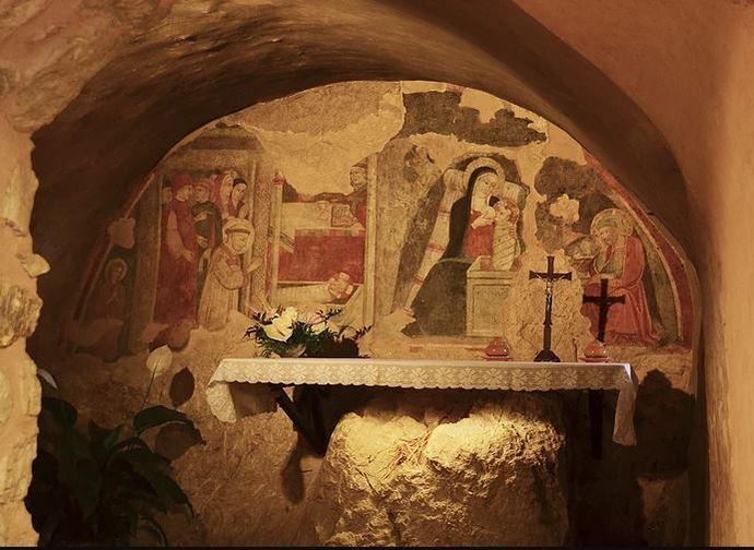 La grotta del presepe originale a Greccio