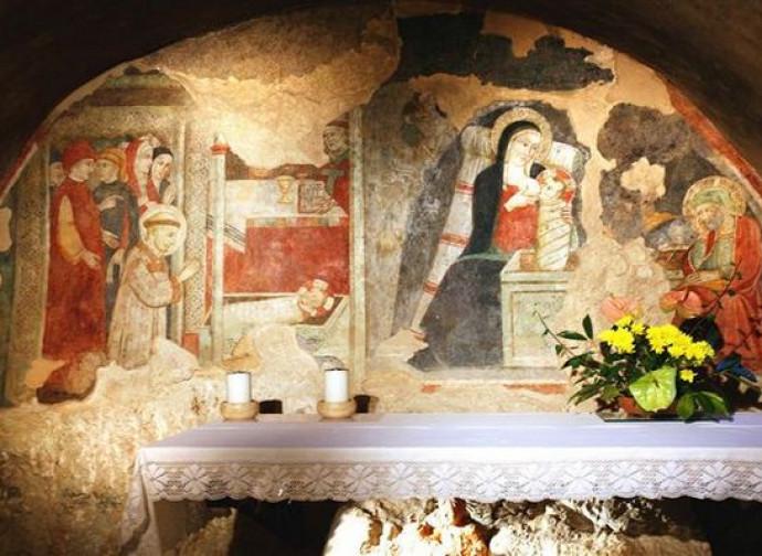 La cappella del presepio a Greccio