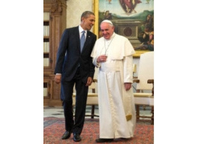 Barack Obama e Papa Francesco in Vaticano