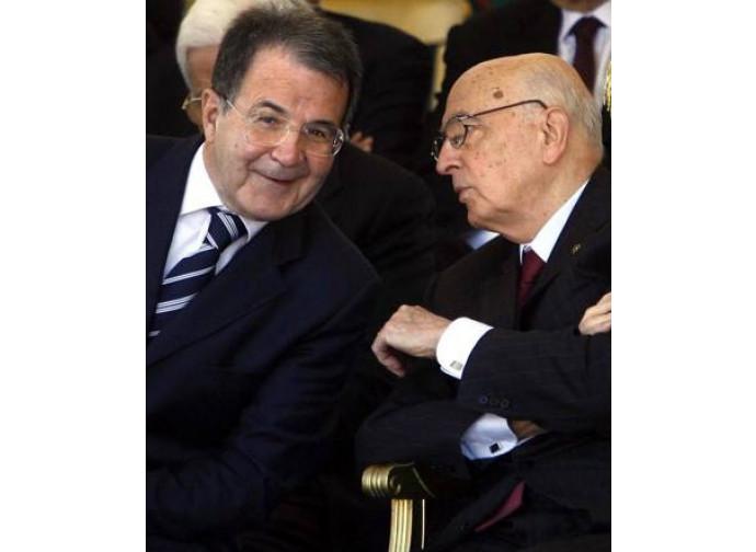 Romano Prodi e Giorgio Napolitano