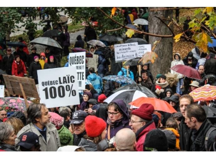 Manifestazione laicista in Québec