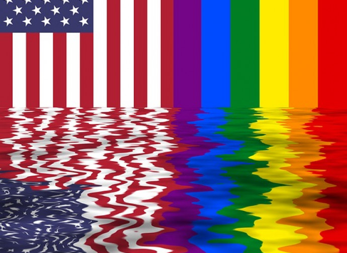 Stars&Stripes vs. Rainbow Flag