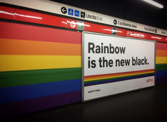 Una fermata metro di Milano sarà per sempre arcobaleno