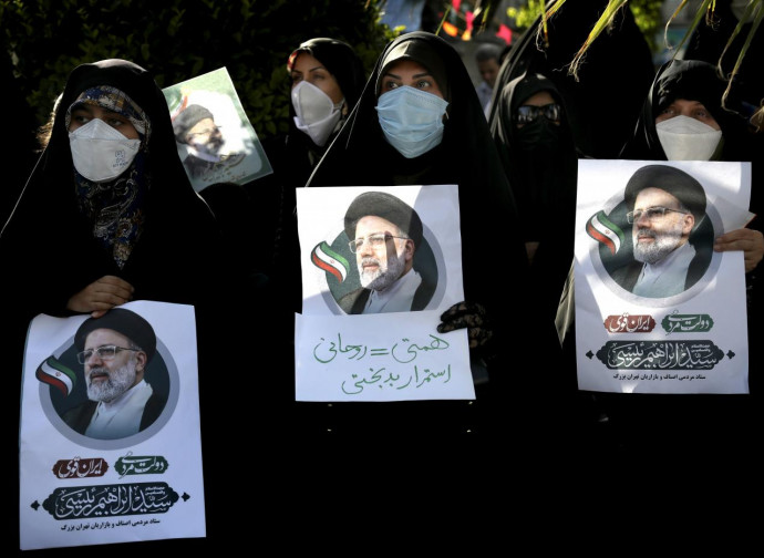 Manifestazione per Ebrahim Raisi