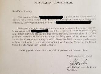 McCarrick, una lettera conferma le accuse di Viganò